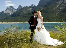 bride & groom Bow Lake