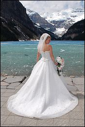 Bride at Lake Louise